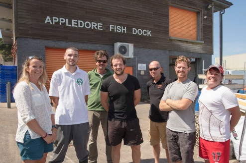 The team were supported in Appledore by the North Devon Fishermen's Association.