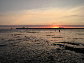 Angling at sundown.